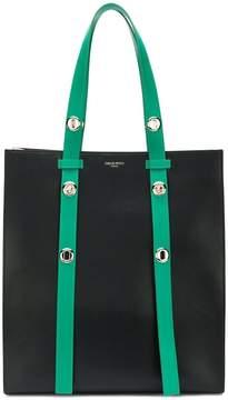 Emilio Pucci colorblocked leather strap tote bag