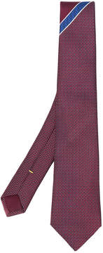 Canali embroidered contrast tie