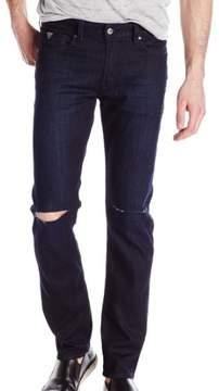 GUESS Blue Mens Size 30x33 Slim Fit Straight Leg Slit-knee Jeans