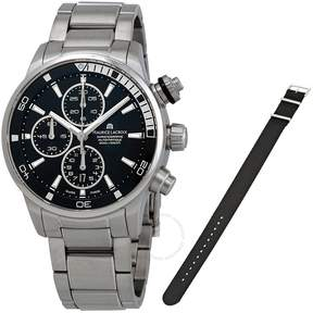 Maurice Lacroix Pontos S Black Dial Stainless Steel Men's Watch