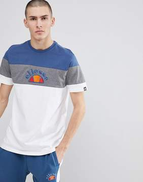 Ellesse Color Block T-Shirt In White