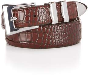 Daniel Cremieux Alligator Print Leather Belt