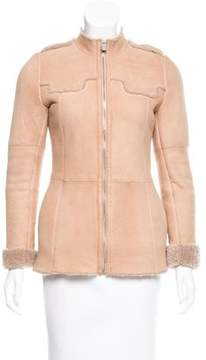 Christian Dior Shearling Lined Suede Jacket