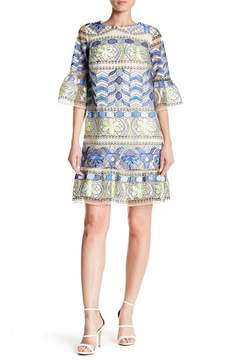 ECI Embroidered Mesh Dress