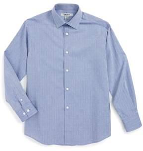 DKNY Neat Chambray Dress Shirt (Big Boys)
