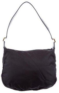 Gianni Versace Medusa-Embellished Nylon Shoulder Bag w/ Tags