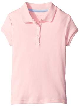 Nautica Short Sleeve Polo with Picot Stitch Collar Girl's Short Sleeve Pullover