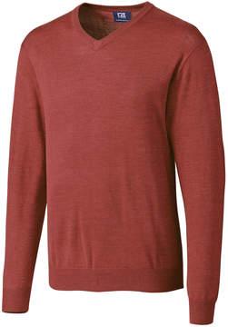 Cutter & Buck Red Douglas V-Neck Sweater - Men