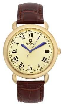 Croton Men's Analog Watch - Brown