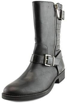 INC International Concepts Womens Blayre Leather Almond Toe Mid-calf Motorcyc....