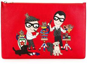 Dolce & Gabbana Designers patch clutch - RED - STYLE