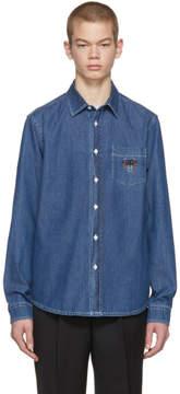 Kenzo Indigo Denim Core Tiger Crest Shirt
