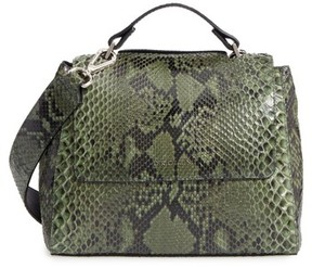 Orciani Small Sveva Genuine Python Satchel - Green