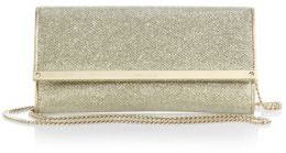 Jimmy Choo Milla Chain-Strap Glittered Wallet