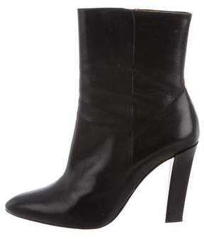 Ralph Lauren Leather Pointed-Toe Ankle Boots