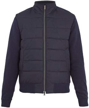 Herno Contrast-sleeve quilted bomber jacket