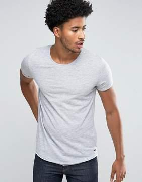 Esprit Longline Slub T-Shirt