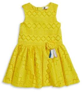 Petit Lem Little Girl's Laser Cut Dress