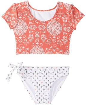 O'Neill Girl's Fiona Sleeved Crop Top Two Piece Swimsuit (2T6) - 8163129