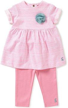 Joules Baby Girls Newborn-12 Months Seren Striped Floral-Appliqu Dress & Leggings Set