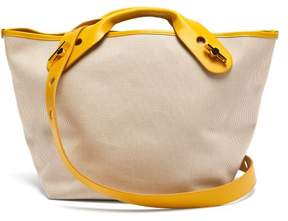 Sophie Hulme Bolt Canvas Tote Bag - Womens - Yellow Multi