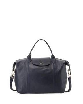 Longchamp Le Pliage Cuir Handbag with Strap, Navy - NAVY - STYLE