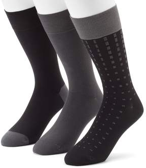 Marc Anthony Men's 3-pack Patterned & Solid Dress Socks