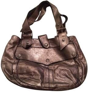 Patrizia Pepe Metallic Leather Handbag