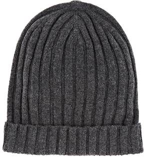 Barneys New York MEN'S RIBBED CASHMERE BEANIE