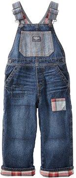 Osh Kosh Toddler Boy Flannel-Lined Overalls Denim Overalls
