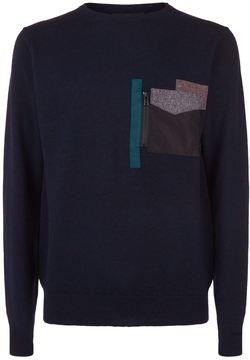 Kolor Chest Pocket Wool Jumper
