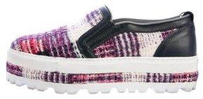 MSGM Tweed Platform Sneakers