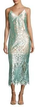 ABS by Allen Schwartz Intricate Mesh Slip Dress