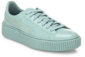 Puma Basket Platform Patent Leather Sneakers