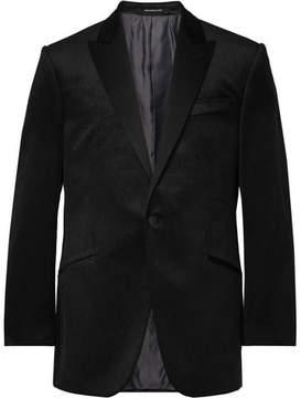 Richard James Black Hyde Slim-Fit Pin-Dot Cotton-Velvet Tuxedo Jacket