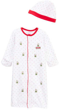Little Me Holiday Bear Gown & Hat (Baby Boys)