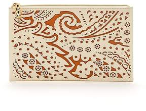 Jody Leather Clutch in Market Paisley