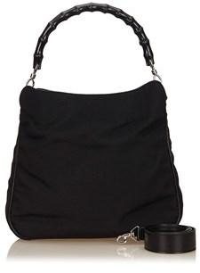 Gucci Pre-owned: Nylon Bamboo Handbag. - BLACK - STYLE