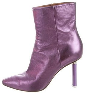 Vetements Metallic Ankle Boots