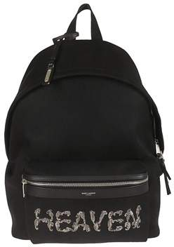 Saint Laurent Men's Black Fabric Backpack.