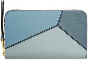 Loewe Blue Puzzle Zip Around Wallet