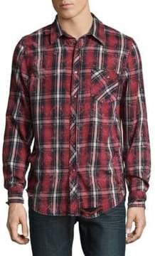 Hudson Plaid Cotton Casual Button-Down Shirt