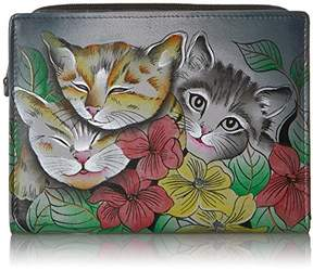 Anuschka Anna by Handpainted Leather Women's Two Fold Wallet