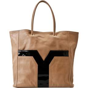 Saint Laurent Chyc leather tote - BROWN - STYLE
