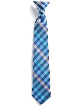 Chaps Boys 4-20 Checkered Clip-On Tie