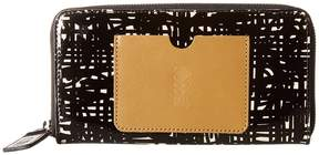Orla Kiely Texture Stem Leather Big Zip Wallet Wallet Handbags