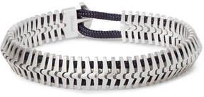 Miansai Klink Sterling Silver Cord Bracelet