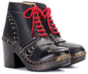 Burberry Embellished leather ankle boots