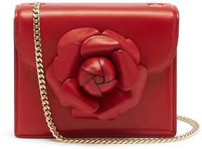 Oscar de la Renta 'TRO' floral appliqué mini leather crossbody bag