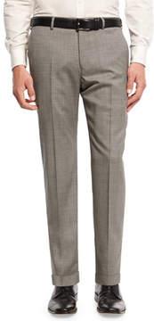 Armani Collezioni Micro-Textured Trousers, Gray